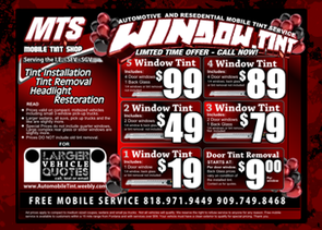 Window Tint Specials and Pricing